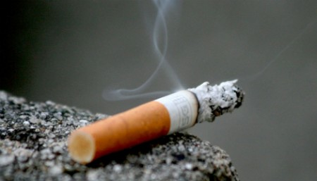 nicotine from a cigarette